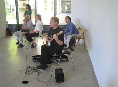 Pictured from Wandelweiser Collective:  John McAlpine, Michael Pisaro, Eva-Maria Houben.