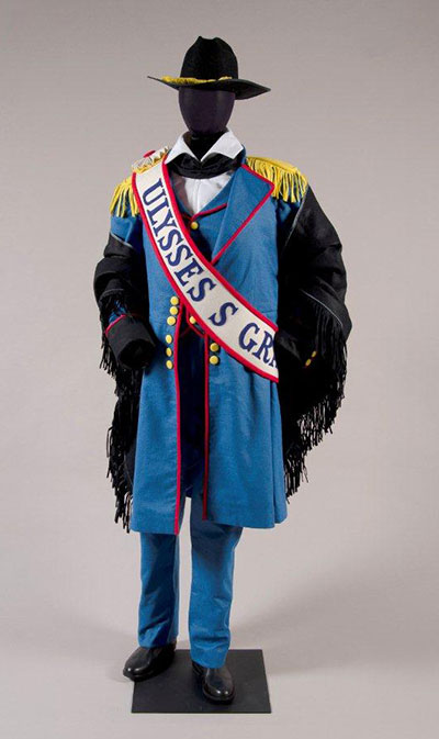 Robert Indiana, Costume for Ulysses S. Grant in The Mother of Us All, 1976, 2012. Reconstruction by the Santa Fe Opera costume shop from the original design, courtesy of the McNay Art Museum. (c)2014 Morgan Art Foundation, Artists Rights Society (ARS), New York Tony Straiges.