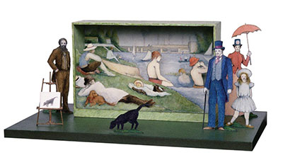Tony Straiges Maquette for Boys Bathing Unit in Sunday in the Park with George 1984
