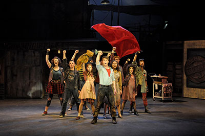 Texas State University students in Urinetown. Photo by Chandler Prude.
