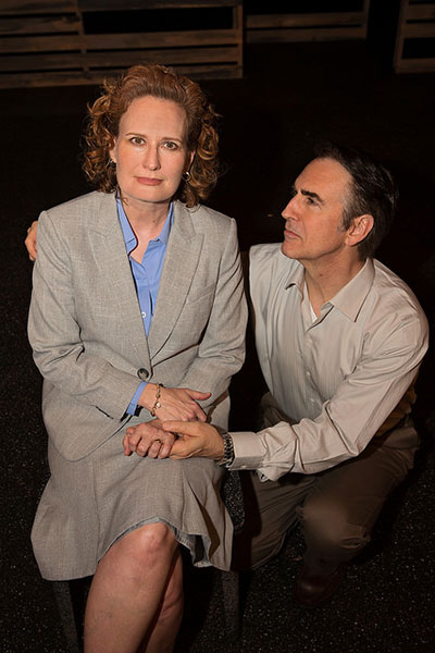 Julienne Greer (Juliana) and Bill Jenkins (Ian) in The Other Place by Sharr White. Photo by Leah Layman.