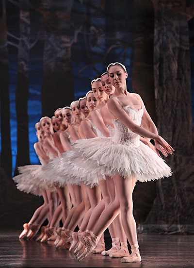 Artists of Houston Ballet in Stanton Welch's Swan Lake Photo by Amitava Sarkar.