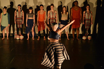 "Image courtesy of Milton Adams Photo from the performance of ""What This Is Not About"" at the Bath House Cultural Center as part of the Barefoot Brigade Dance Festival in 2013."