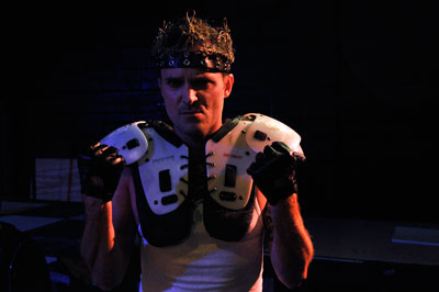 E. Jason Liebrecht in Fixing King John. Photo by Bret Brookshire.