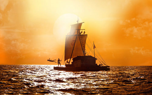 """Kon-Tiki"" Rated PG-13 Now playing in select theaters."