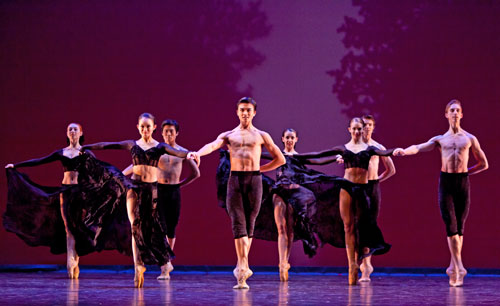 Artists of Houston Ballet II in Stanton Welch's A Dance in the Garden of Mirth  Photo: Amitava Sarkar