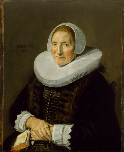 Frans Hals, Portrait of an Elderly Woman, 1650. Oil on canvas. Museum of Fine Arts, Houston, The Robert Lee Blaffer Memorial Collection.