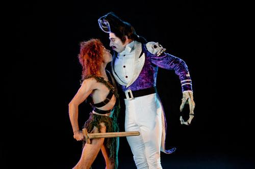 Houston Ballet artists Ilya Kozadayev and James Gotesky in Trey McIntyre's Peter Pan Photo by Amitava Sarkar