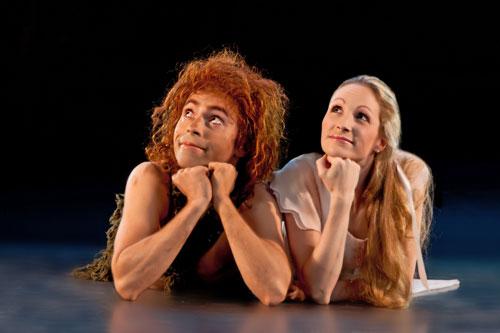 Houston Ballet artists Ilya Kozadayev and Sara Webb in Trey McIntyre's Peter Pan Photo by Amitava Sarkar