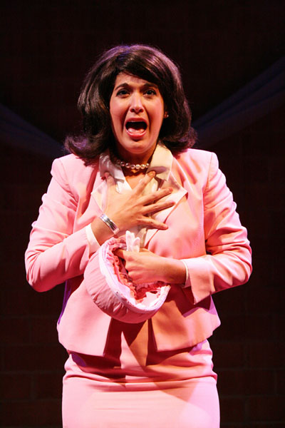"Gina-Marie Vincent as Jackie Kennedy in last year's First Lady Suite"". Photo Credit: Sarah Griffith."