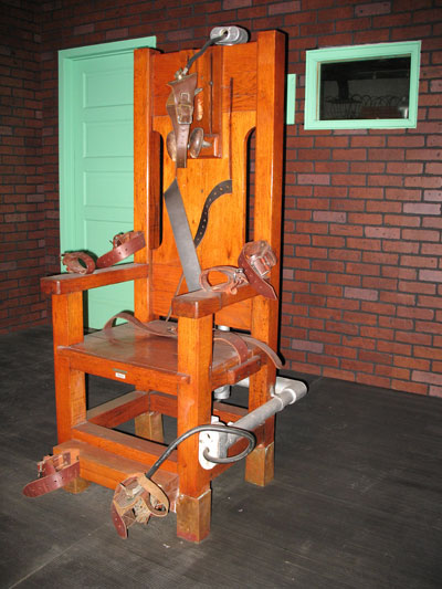 Old Sparky at the Texas Prison Museum, Huntsville. Courtesy photo.