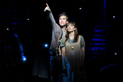 (L to R) Joey deBettencourt and Megan Stern from the Peter and the Starcatcher Tour Company. Photo by Jenny Anderson.