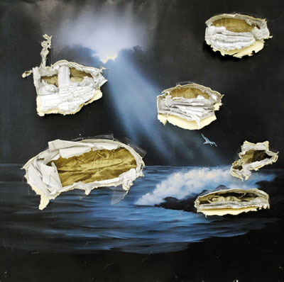 Waltercio Caldas Convite ao raciocínio [Invitation to Reasoning], 1978 Painted iron and turtle shell 5 7/8 x 17 3/4 x 7 7/8 in. (15 x 45 x 20 cm) Letícia Monte and Lula Buarque de Hollanda Collection.