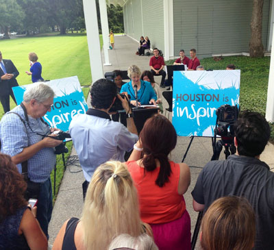 Mayor Annise Parker at a Houston is Inspired campaign event at the Menil Collection. Photo: Devon Britt-Darby.
