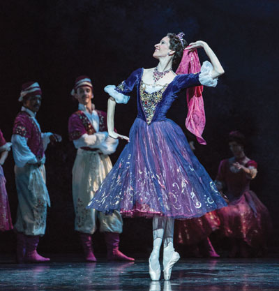 Mireille Hassenboehler and artists of Houston Ballet in The Merry Widow.  Photo by Amitava Sarkar.