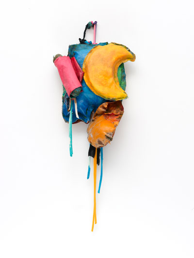 John Outterbridge Rag and Bag Idiom IV, 2012 Mixed media  32 x 12 x 5 3/4 inches Courtesy Tilton Gallery, New York