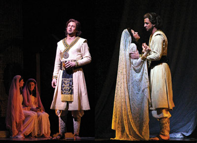 Liam Bonner in Pearl Fishers at New Orleans Opera in 2011.  Courtesy photo.
