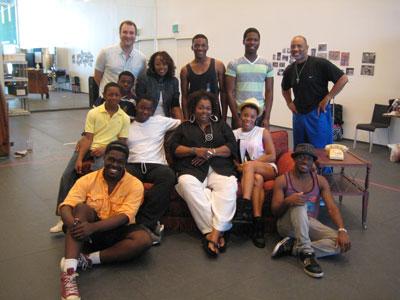 The cast of A Raisin in the Sun at Dallas Theater Center.