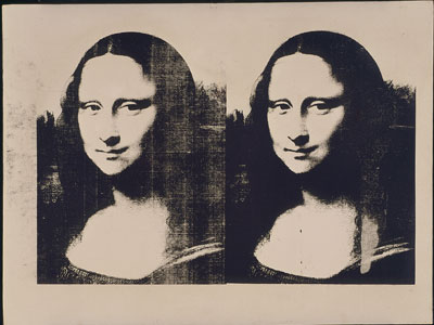 Andy Warhol Double Mona Lisa, 1963 Silkscreen ink on linen 28-1/8 x 37-1/8 inches The Menil Collection, Houston Photo: Hickey-Robertson, Houston