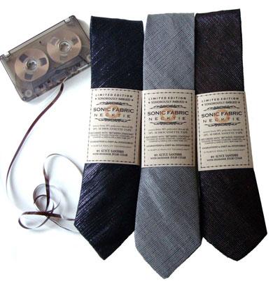 Three Sonic Fabric neckties, photo by Alyce Santoro.