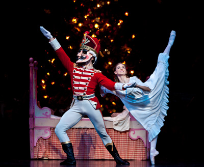 Allison Miller in the Houston Ballet production of Ben Stevenson's The Nutcracker. Photo by Amitava Sarkar.