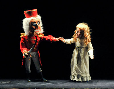 Dallas Children's Theater presents Kathy Burks Theatre of Puppetry Arts in The Nutcracker.  Photo by Karen Almond.