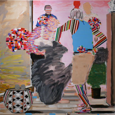 Matthew Bourbon, A Part of Us, 2012. Acrylic on canvas. Courtesy of the artist.