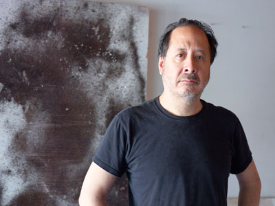 Stephen Lapthisophon in his studio, Dallas, Texas, 2013, Dallas Museum of Art.
