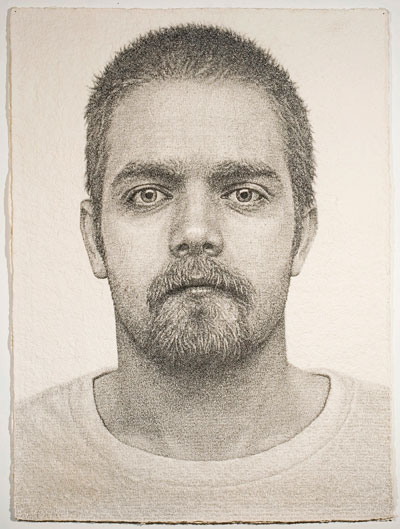 Ben Durham, Robert, 2010. Graphite text on handmade paper. Courtesy of the artist and Lora Reynolds Gallery.