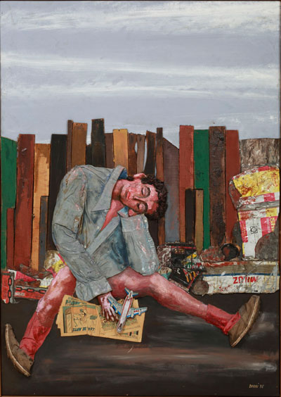 Antonio Berni, Juanito dormido (Juanito Asleep), 1978, oil, wood, cans, cloth, jute, nails, paper mache and plastic toys on plywood, MALBA–Fundación, Museo de Arte Latinoamericano de Buenos Aires. © Lily Berni.