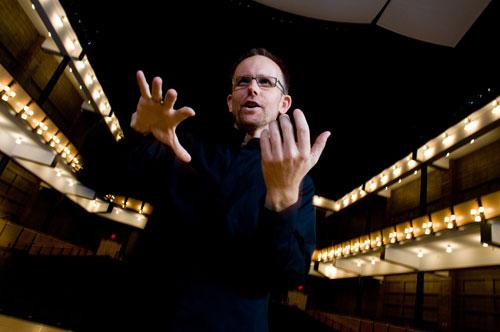 Craig Hella Johnson conducting Conspirare. Photo by Karen Sachar.