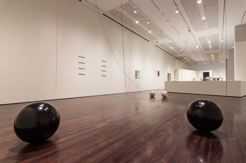 Installation view of The Nearest Air: A Survey of Works by Waltercio Caldas at the Blanton Museum of Art. Photo: Mary Myers.