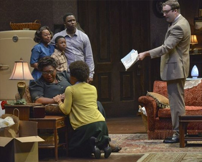 Cast of Raisin in the Sun. Photo by Karen Almond.