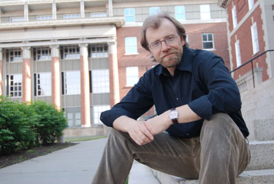 George Saunders reads as part of Inprint's Margarett Root Brown Reading Series on Jan. 27.  Photo by Caitlin Saunders.