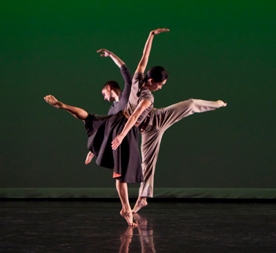 Maile Okamura and Spencer Ramirez. Photo by Richard Termine.