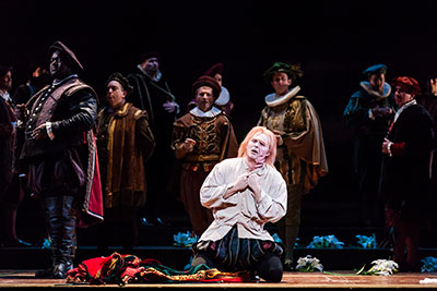 Houston Grand Opera Rigoletto: Ryan McKinny, Rigoletto ; Photo by Lynn Lane.