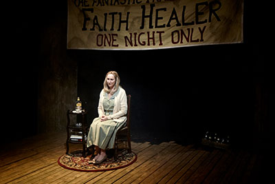 Kim Tobin  in Stark Naked Theatre's production of Faith Healer. Photo by Gabriella Nissen.