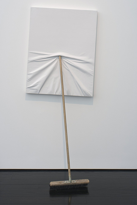 Maurizio Cattelan Untitled, 2009 Canvas, wood, and plastic 82 5⁄8 X 33 1⁄2 X 23 5⁄8 inches © Maurizio Cattelan Photo: Paul Hester