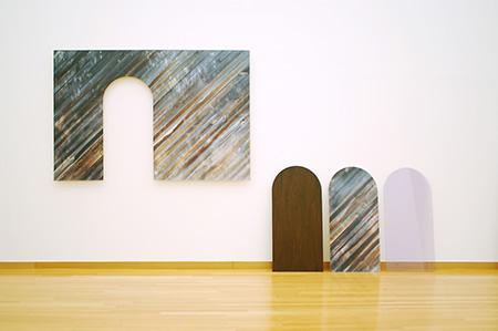 Yuki Kimura post-disembodiment (grain) alter ego (door) shadow (door), 2006 Lambda prints mounted on wood, wood, and Plexiglas Dimensions variable Dallas Museum of Art, DMA/amfAR Benefit Auction Fund