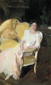 Joaquín Sorolla y Bastida (Spanish, 1863-1923), Clotilde Seated on a Sofa, 1910, oil on canvas. Museo Sorolla, Madrid, Inv. 900