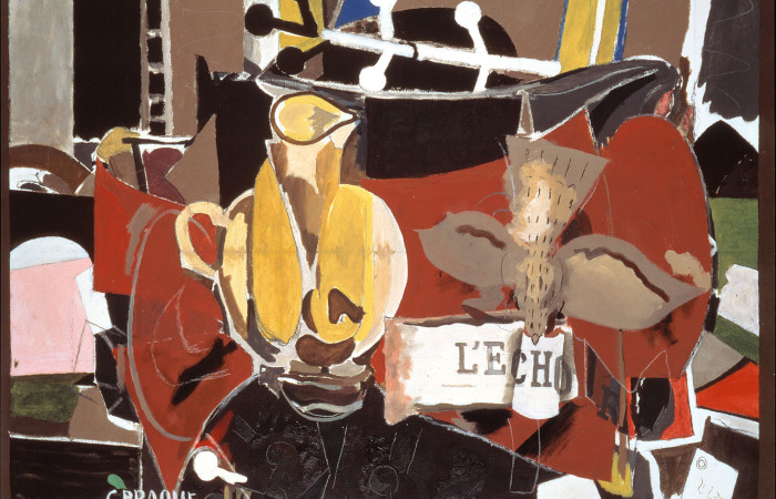 Georges Braque, L'Echo , 1956, oil on canvas, Nahmad Collection, Switzerland. © 2014 Artists Rights Society (ARS), New York / ADAGP, Paris