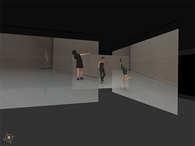 Deborah Hay's A Continuity of Discontinuity 2013 plan, performed by Jeanine Durning, Ros Warby and Juliette Map and filmed by Anna Berger.  Screenshot courtesy of Eric Gould Bear and Rachel Strickland.