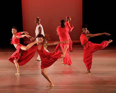 Alvin Ailey American Dance Theater in Ronald K. Brown's Grace.  Photo by Paul Kolnik.