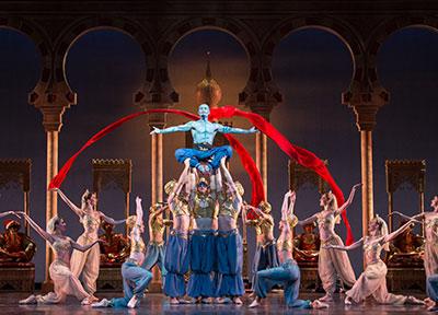 Artists of the Houston Ballet in David Bintley's Aladdin. Photo by Amitava Sarkar.