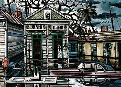 David Bates The Deluge V, 2007 Oil on canvas 60 x 84 inches Private Collection  © David Bates