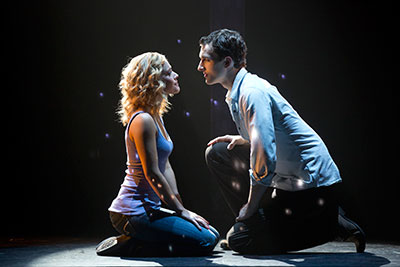 Katie Postonik and Steven Grant Douglas in Ghost the Musical, Feb 11-16 at Bass Hall in Fort Worth.  Photo by Joan Marcus.