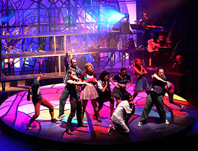 Lexus Broadway Series presents Godspell, Feb  18-March 2 at AT&T Performing Arts Center.   Photo courtesy of AT&T Performing Arts  Center.