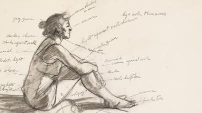 Hopper Drawing & Robert Smithson in Texas