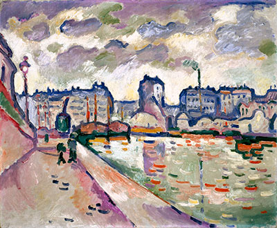 Georges Braque, The Saint Martin Canal, 1906, oil on canvas, the Museum of Fine Arts, Houston, gift of Audrey Jones Beck. © 2014 Artists Rights Society (ARS), New York / ADAGP, Paris.