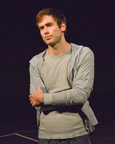 Justin Locklear in Second Thought Theatre's production of COCK. Photo by Kay Almond.